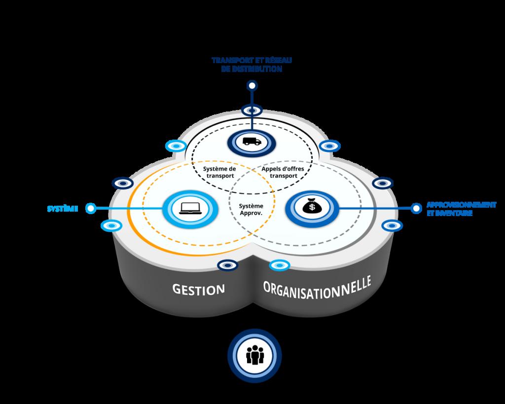 transport et réseau de distribution, approvisionnement et inventaire, systèmes, gestion organisationnelle, chaîne d'approvisionnement, service, Conseil 2.0