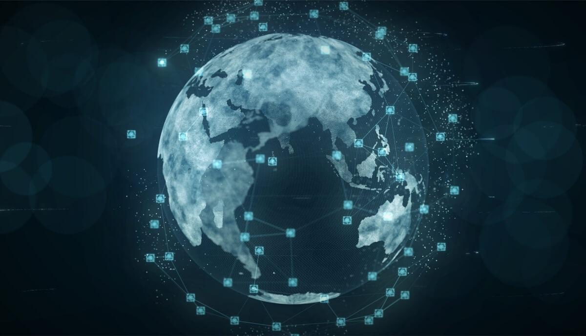 réseau de la chaîne d'approvisionnement au monde